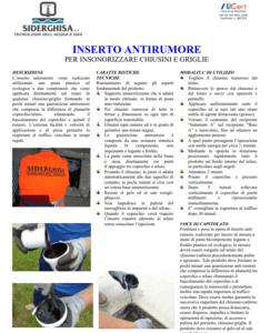 inserto antirumore PDF