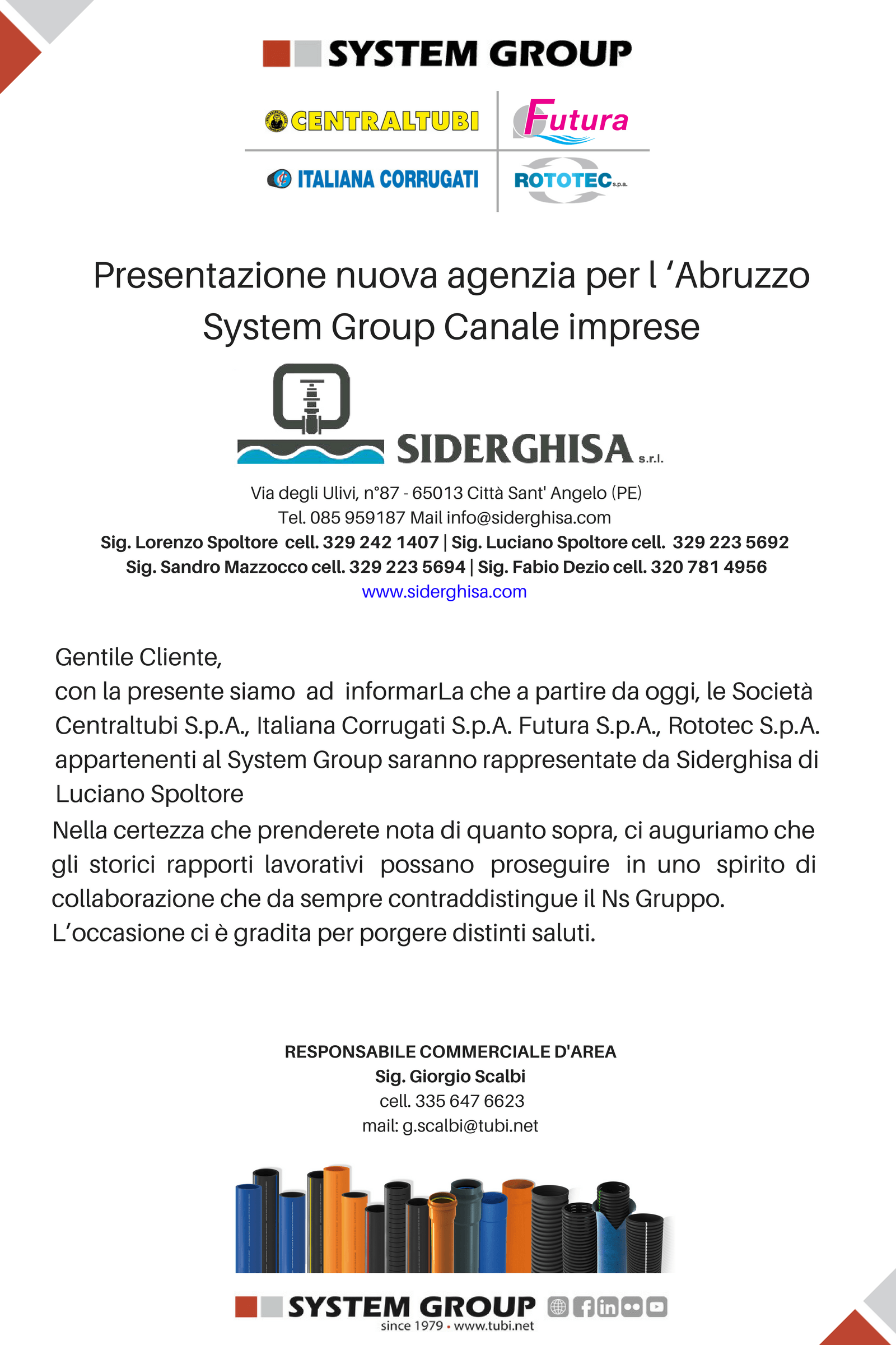 Systemgroup Presentation new agency for Abruzzo