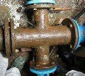 Croce FL rotta tubazione da riparare