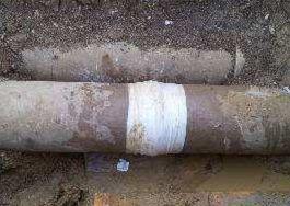 tubazione in cemento riparata