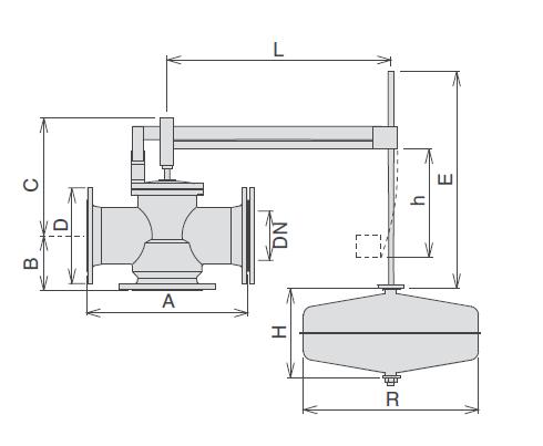 Dimensioni e pesi valvola galleggiante Athena (Schema)