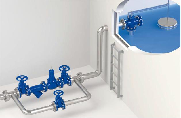 Schema di installazione dei riduttori di pressione